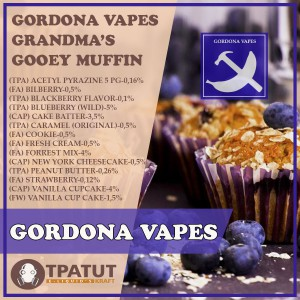 Gordona Vapes – Grandma's Gooey Muffin -ориг.