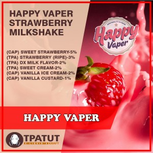 Happy Vaper  -Strawberry Milkshake